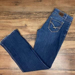 BKE Denim Dark Wash Taylor Boot Cut Jeans, Long